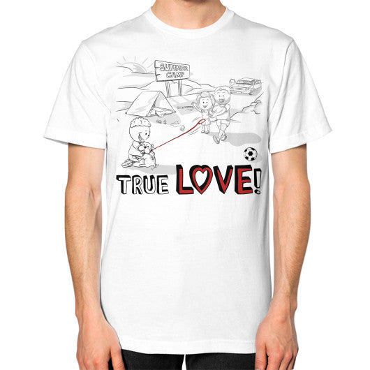 TRUE LOVE! Unisex T-Shirt (on man) -  T-Shirt  - 17