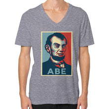 """ABE Lincoln ""Hope"" Design"" V-Neck (on man) - Gordon Wear"