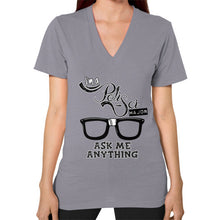 I'M A POLISCI MAJOR - ASK ME ANYTHING DESIGN V-Neck (on woman) - Gordon Wear