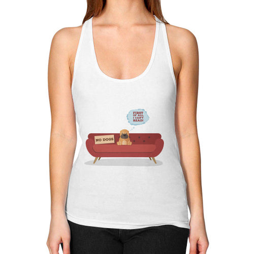 DOGS CAN'T READ - DUH! COLLECTION Women's Racerback Tank - Gordon Wear