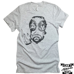 Gas Mask Unisex T-shirt. Crew Neck Tee. Shirt personalized gift.