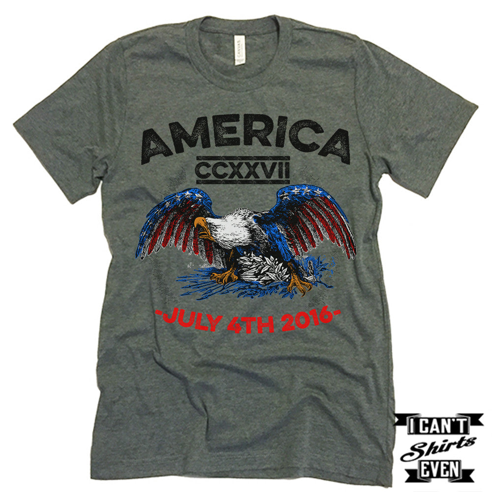 America Shirt. July 4th T shirt. Independence Day Unisex Tee.