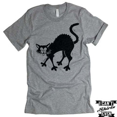 Black Cat T-shirt. Halloween Tee. Unisex Shirt