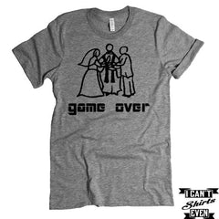 Game Over T-shirt. Party Engagement Gift. Wedding Gift. Bridal Shower.