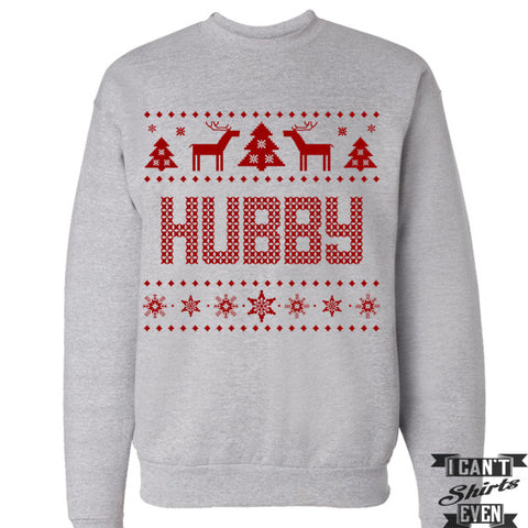 Hubby. Ugly Christmas Sweater. Tacky Christmas Sweatshirt. Merry Christmas Sweater.