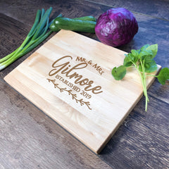 Engraved Cutting Board. Personalized Board. Bridal Shower Gift. Engagement Gift. Engraved Board. #1