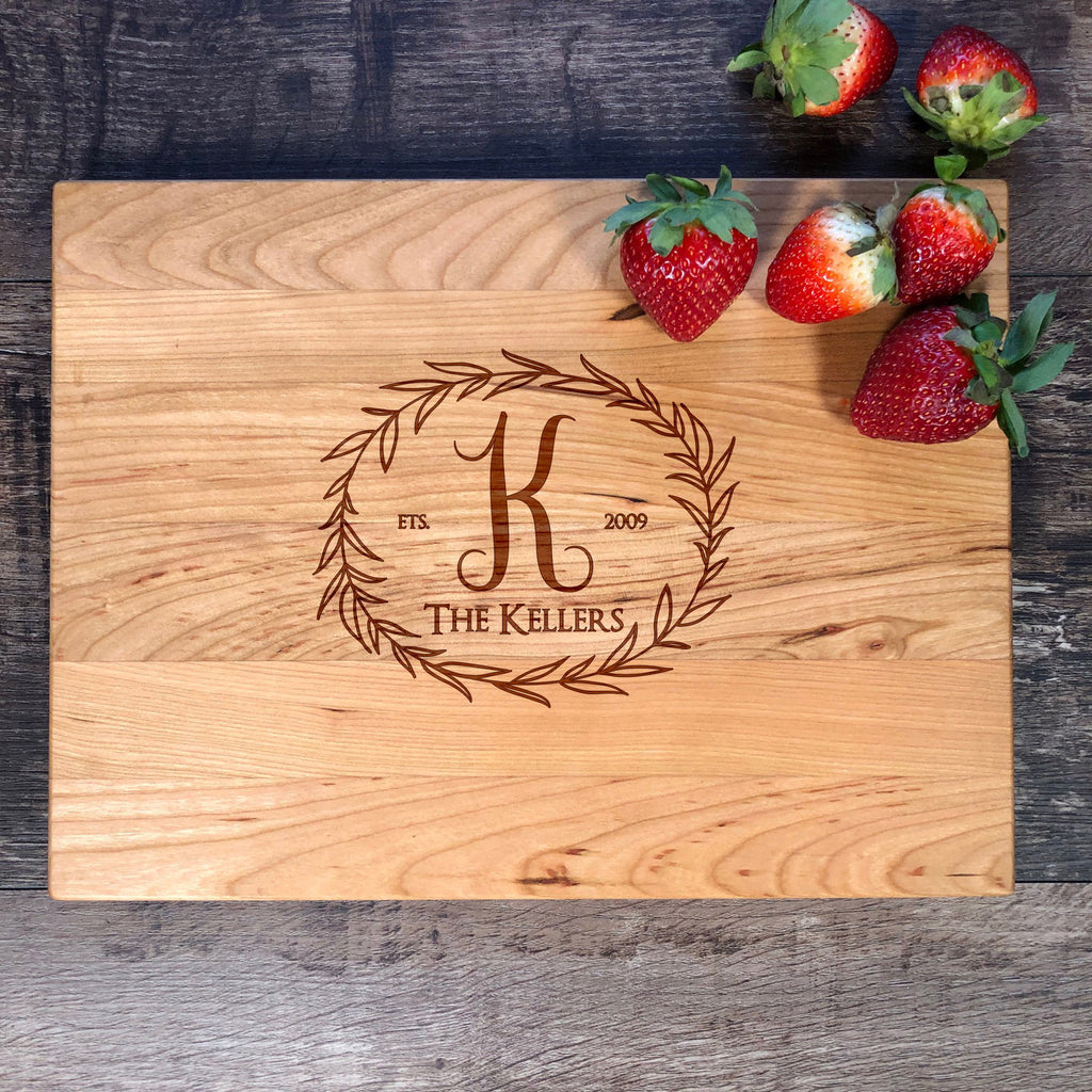 Custom Family Name Cutting Board. Anniversary Gift. Wedding Gift. Personalized Gift  #19