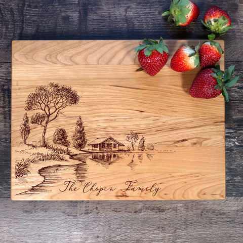Personalized Cutting Board. Engraved Cutting Board. Engagement Gift. Anniversary Gift. #42
