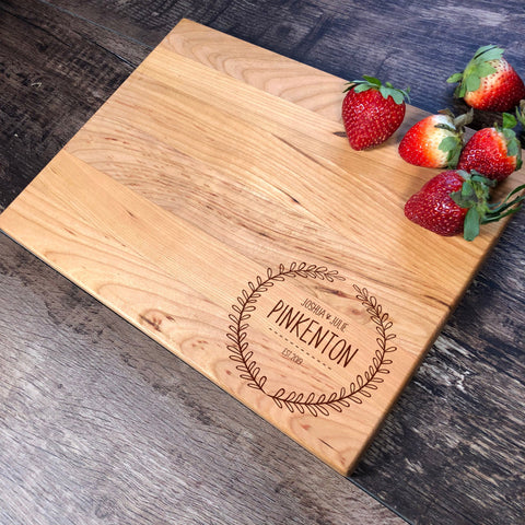 Personalized Cutting Board. Engraved Cutting Board. Wedding Gift. Anniversary Gift. Housewarming Gift. #18