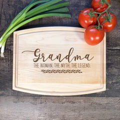 Custom Cutting Board. Grandma The Woman The Myth The Legend. Personalized Gift #50