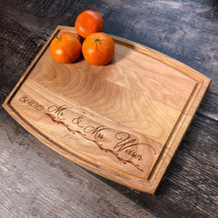Mr. & Mrs. Cutting Board. Personalized Wedding Gift. Custom Date Gift. Bridal Shower Gift. #3