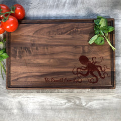 Personalized Cutting Board. Octopus. Nautical Decor. #43