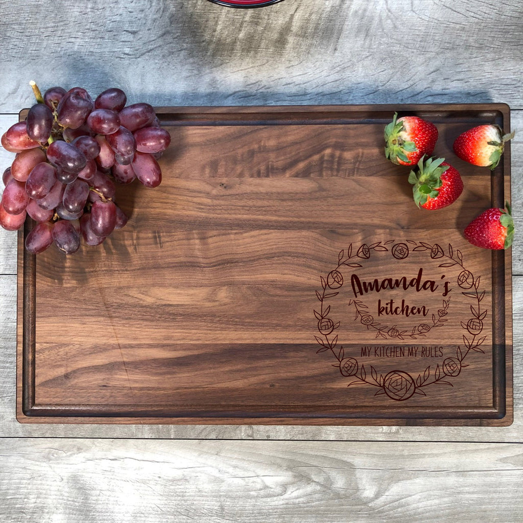 My Kitchen My Rules Cutting Board. Funny Cutting Board. Custom Name Cutting Board. Funny Mother's Day Gift. #17