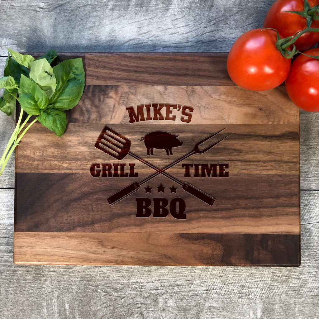 Personalized Cutting Board. BBQ Board. Custom Name Cutting Board. #40