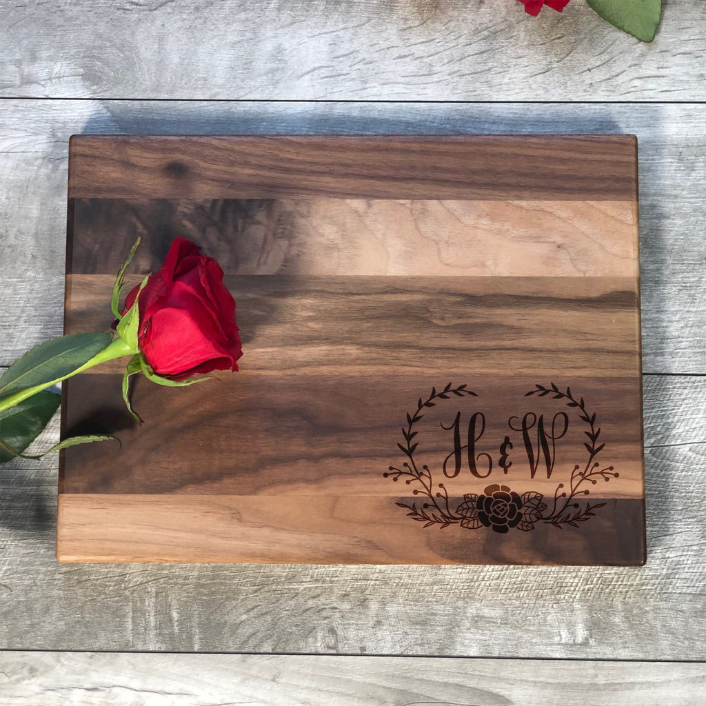 Cutting Board Personalized. Custom Initials Board. #16