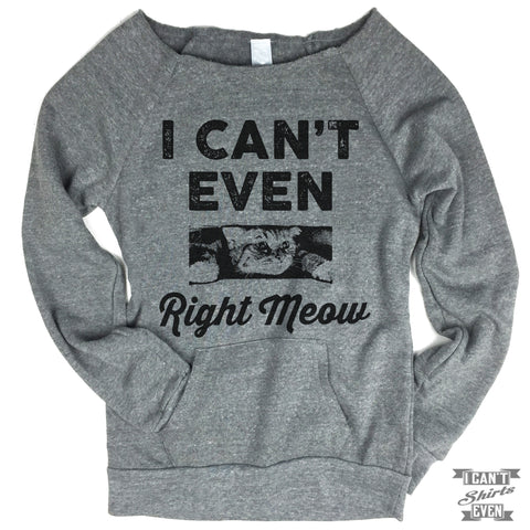 I Can't Even Right Meow Sweater.