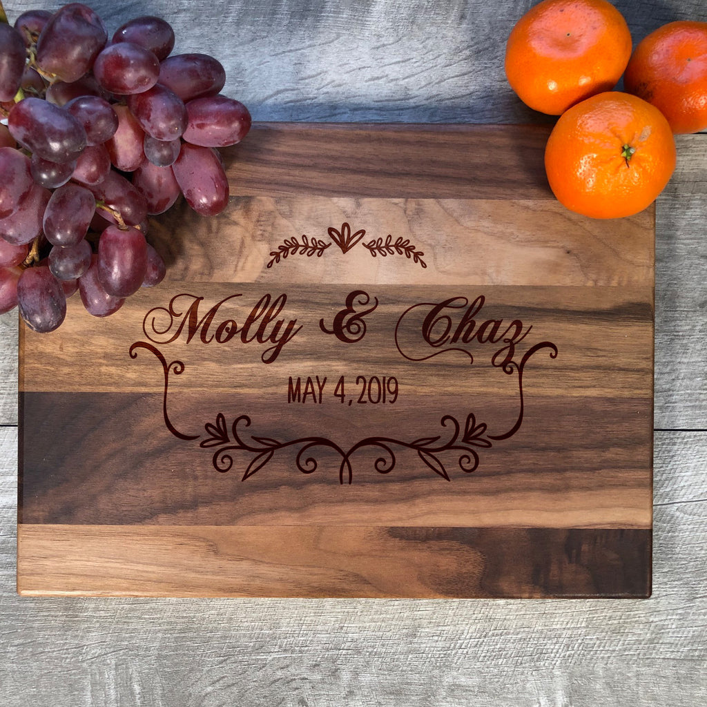 Custom Cutting Board. Wedding Gift. #12