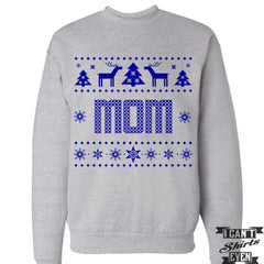 Mom Ugly Christmas Sweater. Tacky Christmas Sweatshirt. Merry Christmas Sweater.