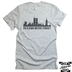 09.11.2001 Never Forget T-shirt. September 11 Shirt. Memorial Day T-shirt.