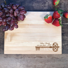 And So The Adventure Begins. Housewarming Gift. Cutting Board. Realtors Gift #21