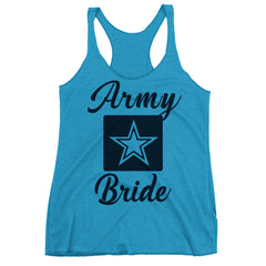 Army Bride Racerback Tank Top.