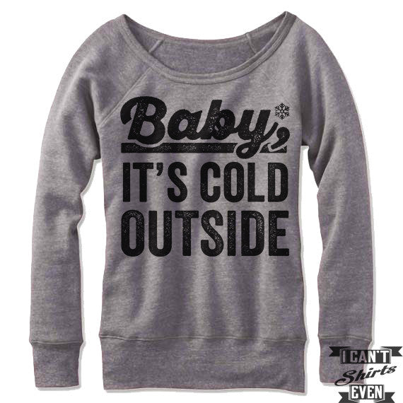 Baby It's Cold Outside Off-The-Shoulder Sweater
