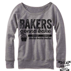 Bakers Gonna Bake Off Shoulder Sweater