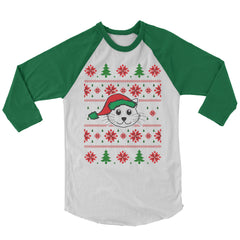 Christmas Cat Baseball Shirt