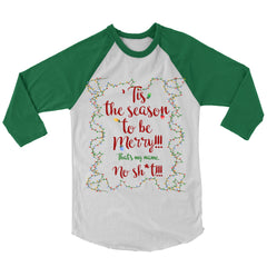 'Tis The Season To Be Merry Baseball Shirt