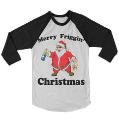 Merry Friggin' Christmas Baseball Shirt