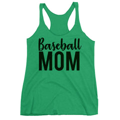 Baseball Mom Racerback Tank Top.