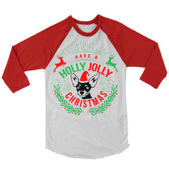 Holly Jolly Christmas Baseball Shirt.