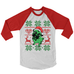 Pug Christmas Baseball Shirt