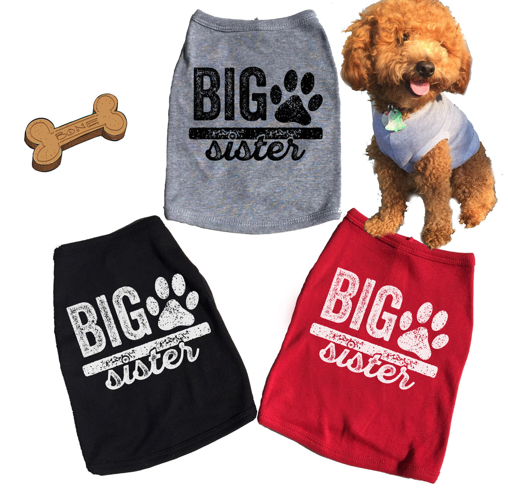Big Sister Dog Tank. T-shirt.
