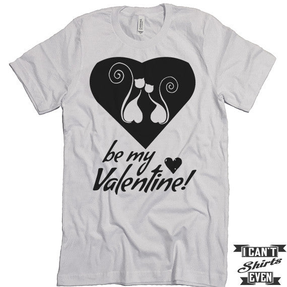 funny be my valentine kitty valentines day t shirt cats in the heart gift funny