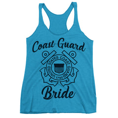 Coast Guard Bride Racerback Tank Top.