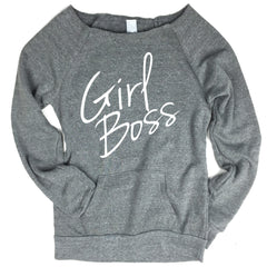Girl Boss Off-The-Shoulder Sweater.