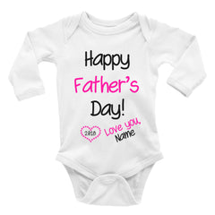 Happy Father's Day 2018 Onesie. Baby Bodysuit.
