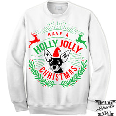 Christmas Sweater. Have A Holly Jolly . Jumper.