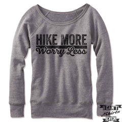 Hike More Worry Less Off-The-Shoulder Sweater
