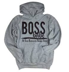 Custom Boss Babe Off The Shoulder Sweatshirt