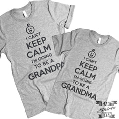 I Can't Keep Calm Grandma Grandpa T Shirts.