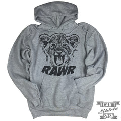 Lion Cub Rawr Hoodie. Hooded Sweater.
