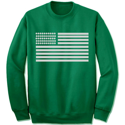 Lucky Clover USA Flag Sweatshirt