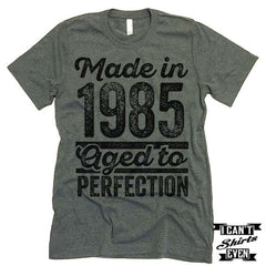 Made In Year Aged To Perfection T shirt. Birthday Tee.