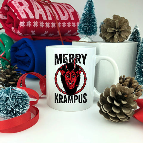 Merry Krampus Christmas Mug.
