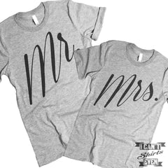 Mr. and Mrs. Couples Shirt. Unisex.