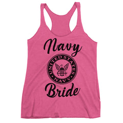 Navy Bride Racerback Tank Top.