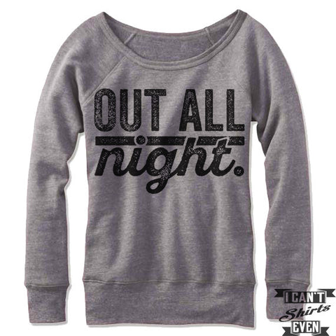 Out All Night Off Shoulder Sweater