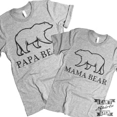 Papa Bear Mama Bear Couples T Shirt.